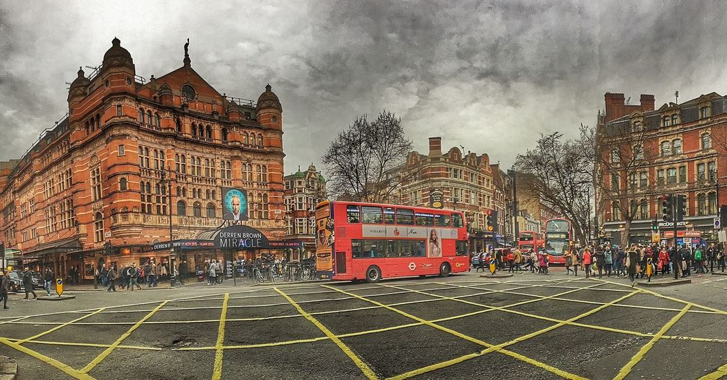 Bus City City Life Coulourful Crossing England Great Britain Grey Sky London Shopping Streetlife Theatre