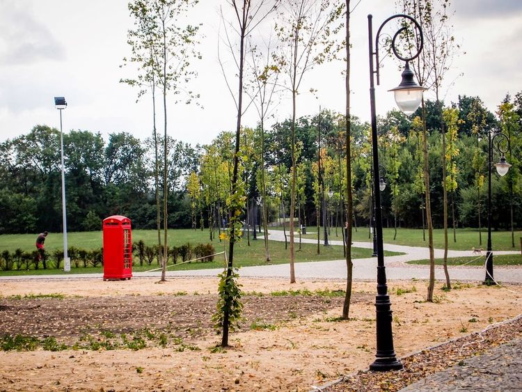 Booth Day Escapism Green Leisure Activity Outdoors Park Playground Red Telephone Box