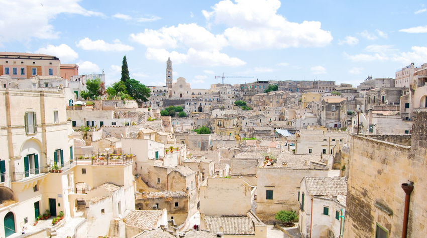 Architecture Built Structure Building Exterior Building City Cloud - Sky Sky The Past History Day Residential District Nature Travel Destinations Travel No People Town Tourism Outdoors Old Cityscape TOWNSCAPE Ancient Civilization Matera Italy Capital Of Culture 2019