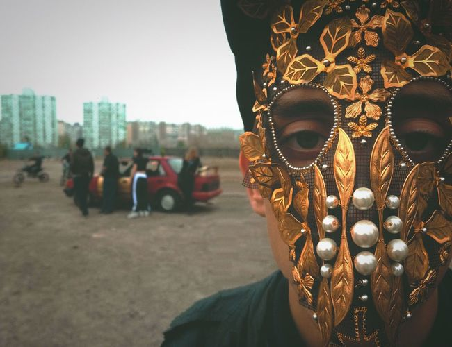 The Street Photographer - 2017 EyeEm Awards Mask - Disguise Venetian Mask Costume Disguise Carnival Real People Men Day Outdoors One Person Close-up People MØ Kamikaze