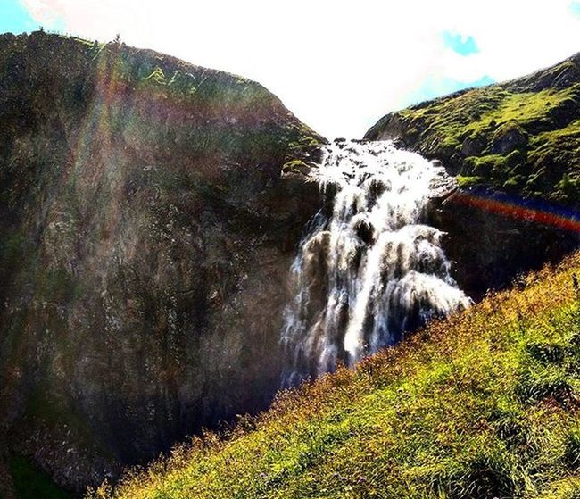 Oh this Hike was a Walktoremember Water Waterfall Rainbow Sloaps Adelboden Switzerland Klettersteig Nature Naturelover Worldtraveler Mysummeradventure2015 Cantgetenoughofthiscountry Nofilter HTC HTCDesireEye
