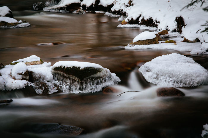 Ice Ilsetal Nature Tadaa Community Harz Ice Crystals Landscape Long Exposure No People Snow Snow Covered River Rocks