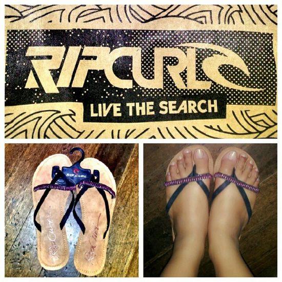 New flip flops from Ripcurl... :D Ripcurl Flipflops Uglyfeet LiveTheSearch yayyyy