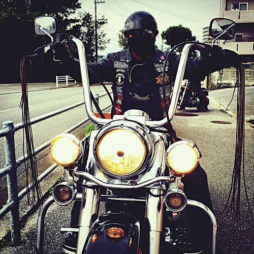 FLHR Roadking Harleydavidson Custom Road Warrior Leather Fringe Bikers Okinawa 沖縄