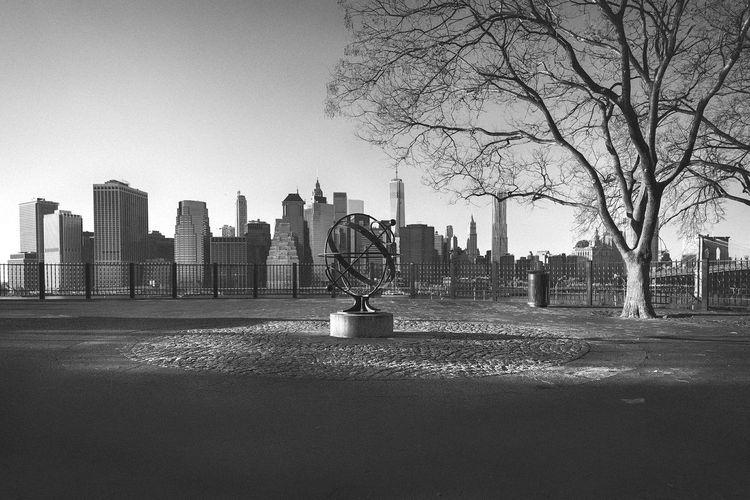 Urban Skyline Against Sky