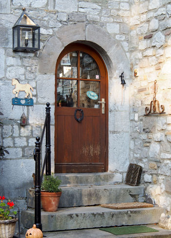 Architecture Brick Wall Building Exterior Built Structure Day Door Entrance Façade Front Door House No People Outdoors Residential Building