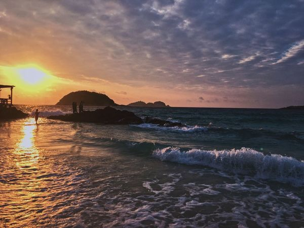 Scenic Redang beach Redang Island Malaysia Truly Asia Lost In The Landscape Lost In The Landscape Cloud - Sky Water Sunset Beauty In Nature Land Sea Beach Wave Tranquil Scene Nature Sky