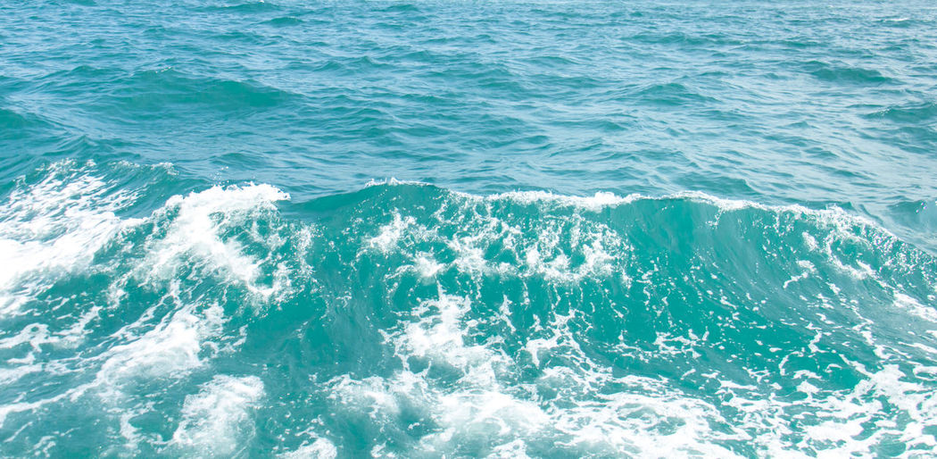 Sea water wave in aqua clean and clear.