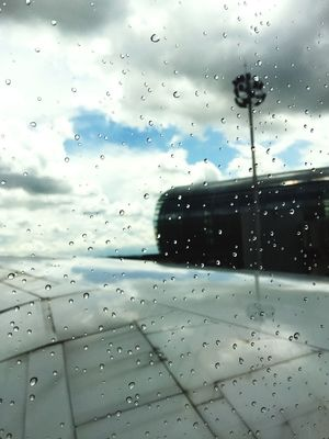 Window Airplane Airport Rain Traveling Drop Water Cloud - Sky Sky Day Wet Travel