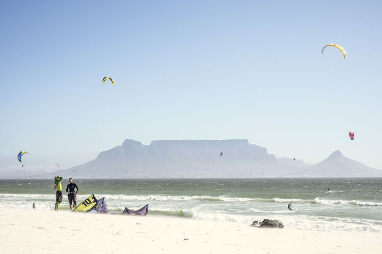 Adventure BloubergStrand Cape Town Extreme Sports Horizon Over Water Kitesurfing Leisure Activity Outdoors Sea Seeing The Sights Tablemountain Vacations