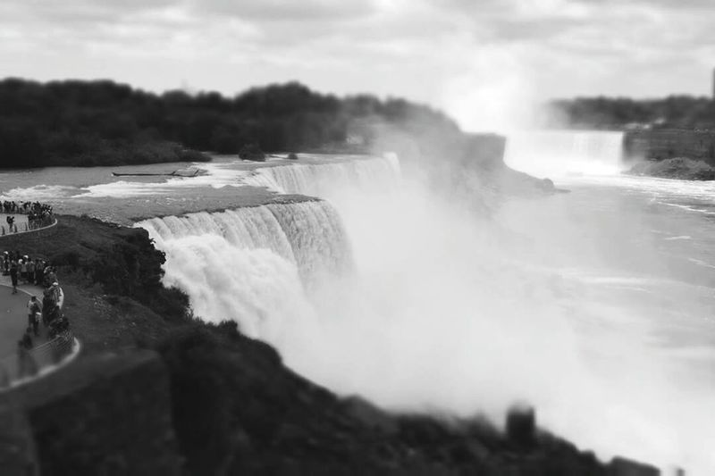 Tourism Travel Destinations International Landmark Waterfall Famous Place Niagara Falls Niagara Falls NY Motion Travel Water Flowing Watching Scenics Beauty In Nature Flowing Water Power In Nature Vacations Tourist Geology People From My Point Of View Day Quality Time Lifestyles Outdoors