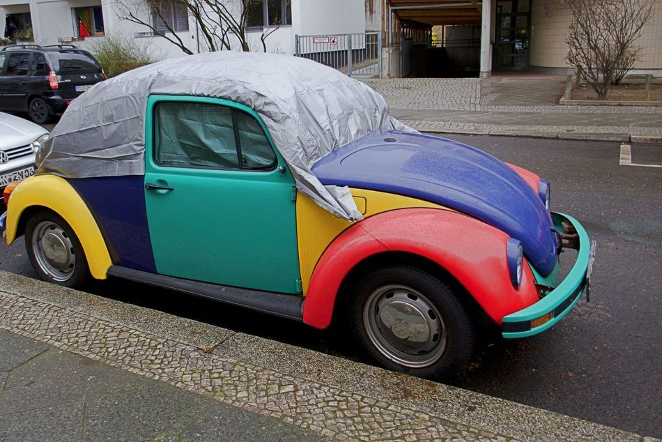 Car City Day Harlekin Land Vehicle No People Outdoors VW Beetle Winter Proof Wrapped Up