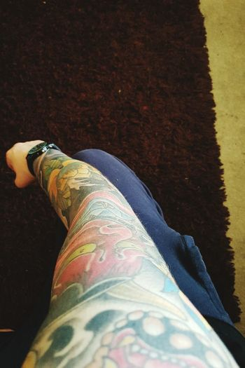 My sleeve, tattoos are an awesome addiction. Arm Tattoo Sleeve  Japanese  Japanese Tattoo Noh Mask Colours Ink Watch EyeEmNewHere