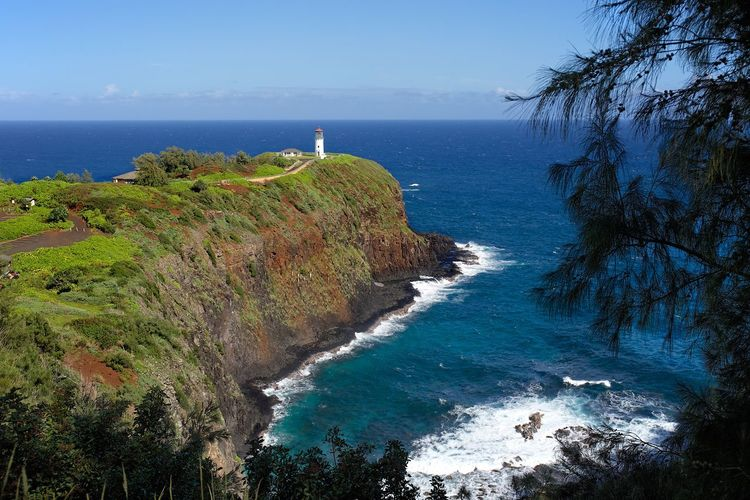 Hawaii Lighthouse Beauty In Nature Horizon Over Water Kilauea Scenics Sea Sea And Sky