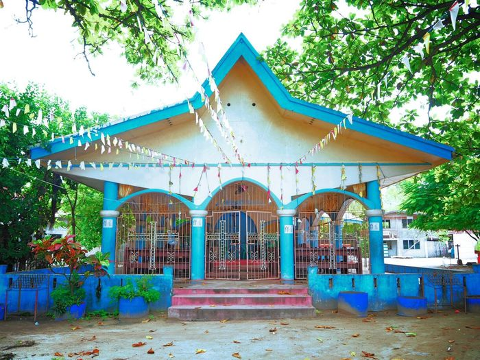 Traveling Phillipines Church Building Building Story Starshape Lovely Colorful Summervacation Peaceful