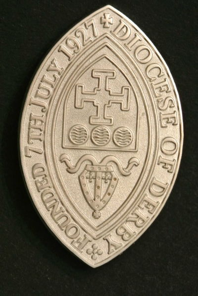 The badge. Bishop's Badge awards. Badge Award Ceremony History Ancient Design Close-up