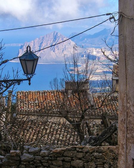 Sky No People Built Structure Outdoors Day Architecture Tree Cloud - Sky Erice Monte Cofano Panoramic View Landscape_Collection Backgrounds Nature Sea And Sky Trapani Landscape Panorama High Viewpoint EyeEmNewHere Beauty In Nature Nature_collection Blue Sky With Clouds Lamp The Great Outdoors - 2017 EyeEm Awards