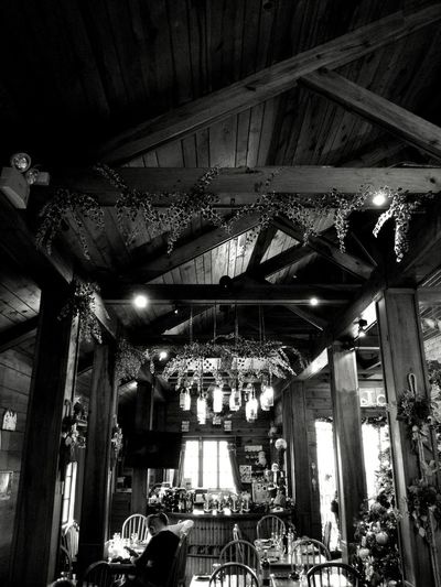 Low Angle View Arts Culture And Entertainment Indoors  No People Day Wood Indoors  Lodge Cabin In The Woods Baguio City Furnitures Architecture Blackandwhite Monochrome Philippines Pillars Light And Shadow