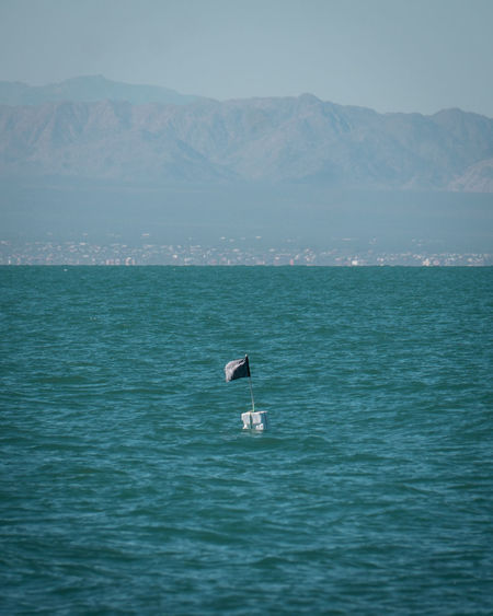 Illegal fishing buoy inside mexican reserve