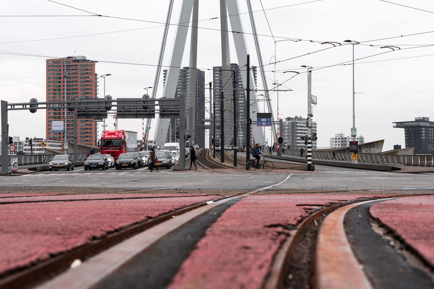 Erasmus Bridge The Architect - 2018 EyeEm Awards Architecture Building Exterior Built Structure Cable City City Street Connection Day Land Vehicle Mode Of Transportation Nature No People Office Building Exterior Outdoors Rail Transportation Railroad Track Road Sky Skyscraper Street Surface Level Track Transportation