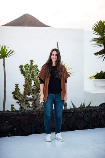 Lanzarote EyeEm Selects Front View Young Adult Standing One Person Young Women Full Length Lifestyles Real People Leisure Activity Tree Nature Looking At Camera Portrait Hairstyle Looking Sky Outdoors Plant Casual Clothing Day