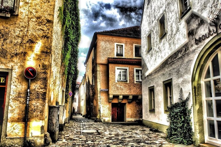 Narrow alley in town