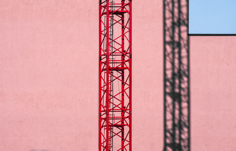 Architecture No People Day Built Structure Red Construction Industry Construction Site Development Building Exterior Industry Crane - Construction Machinery Machinery Sky Copy Space Construction Equipment Shadow