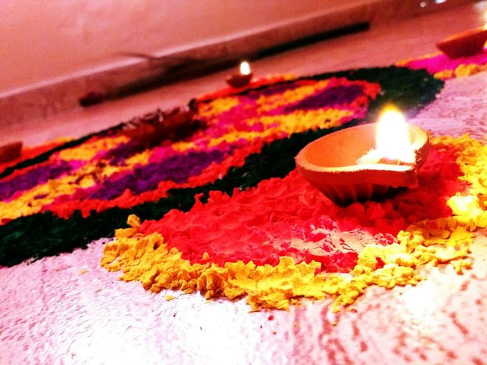 Colorful Rangoli. Diwali 2015 lights