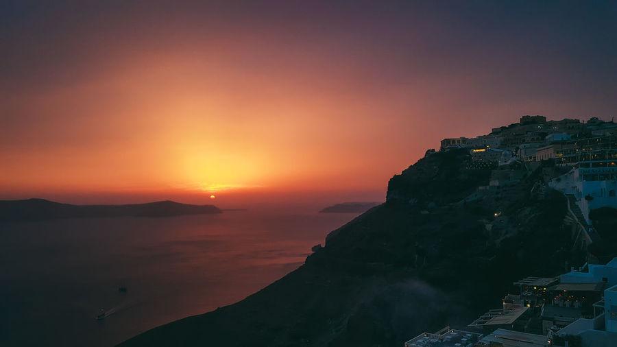 Astronomy Galaxy Sunset Mountain Awe Water Sky Landscape