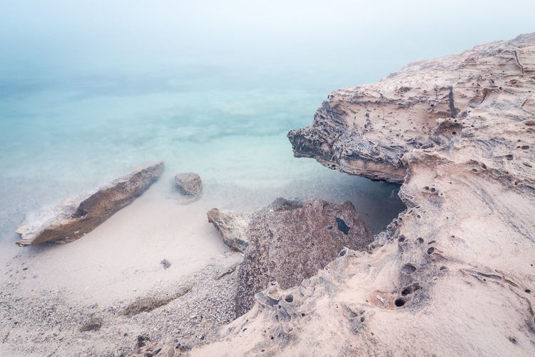 Rock Formation Beauty In Nature Day Long Exposure Nature No People Outdoors Rock - Object Scenics Sea Sky Tranquility Water