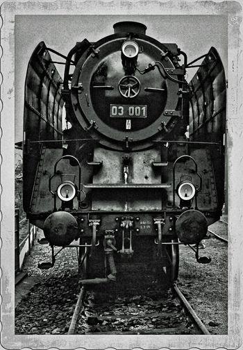 Steam Locomotive Steamtrain Front View Blackandwhite BR 03