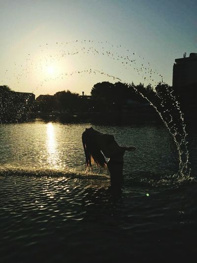 A beautiful place ... Croatia Water Sky Sun Sea Summer Vibes Summertime Reflections In The Water Reflections And Shadows Perfect Timing Picture Hair Let Your Hair Down Splashing High-speed Photography Sunrise Flowing Water Water Drop Shining Drop