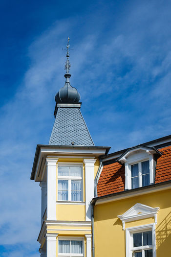 Buildings in Bansin, Germany. Holiday Architecture Bansin Building Exterior Buildings Built Structure Cloud - Sky Clouds And Sky Day Detail Landmark No People Outdoors Sky Tourism Travel Destinations Usedom Vacation