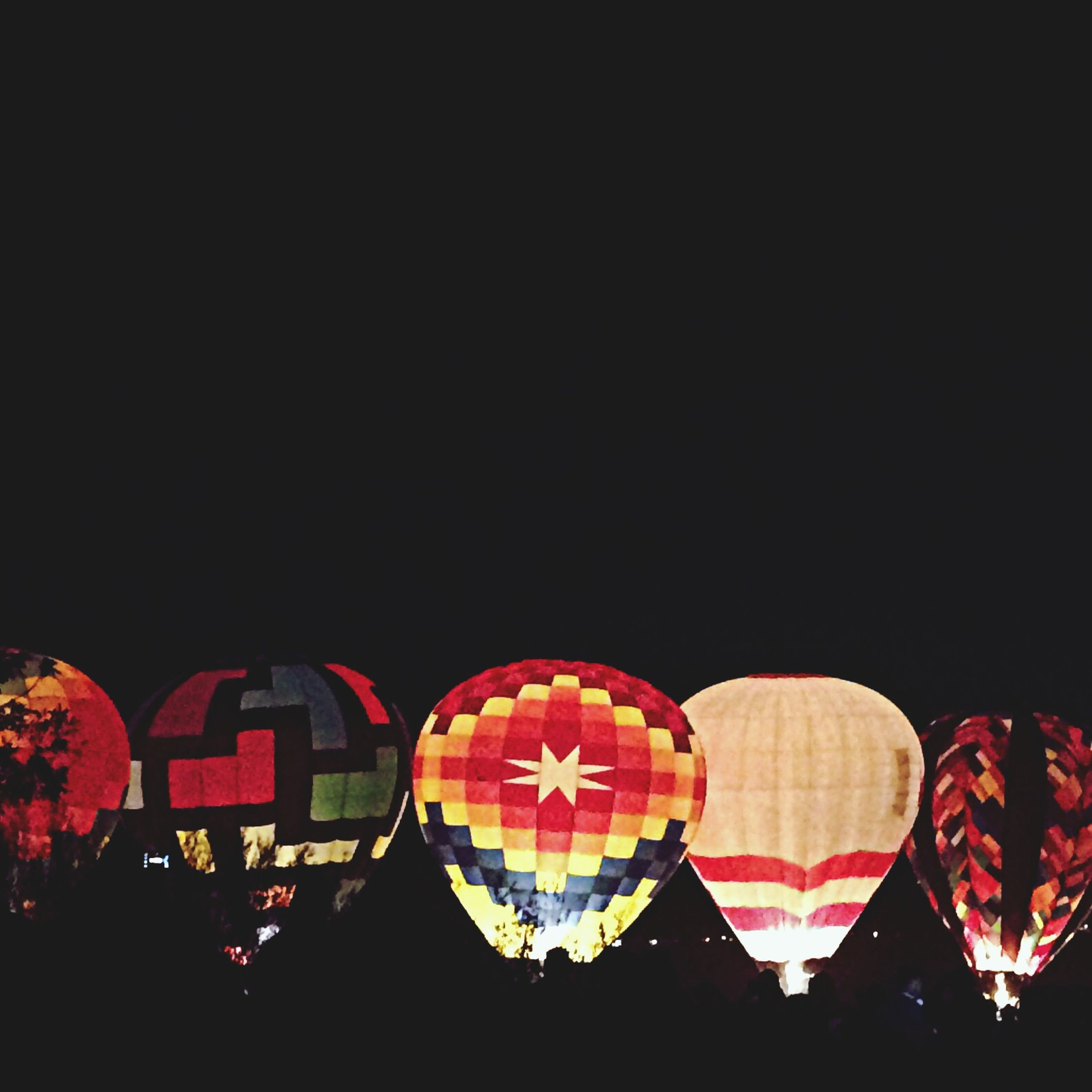 copy space, red, clear sky, night, illuminated, in a row, multi colored, side by side, lighting equipment, no people, decoration, celebration, dark, lantern, order, outdoors, colorful, hanging, large group of objects, repetition