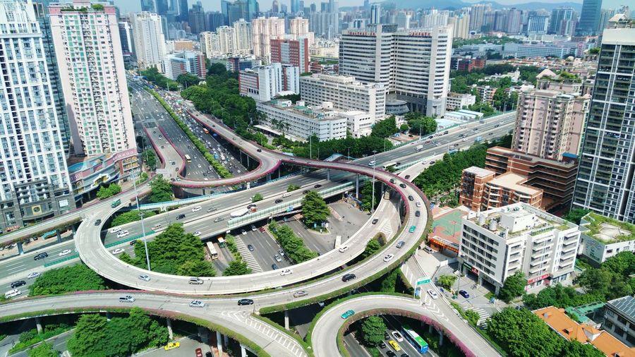 A Bird's Eye View City Life First Eyeem Photo Guangzhou Nubian Mobile Phone Photography Good Day Overpass