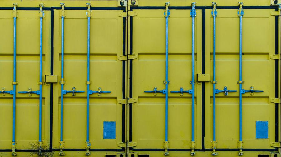 Full Frame Shot Of Closed Metal Doors