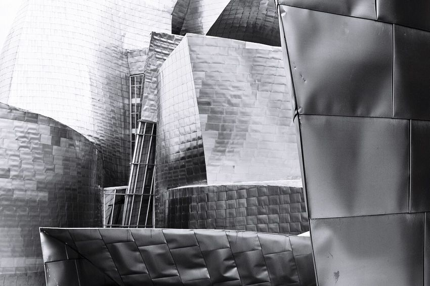 Bilbao Guggenheim SPAIN Architecture Monochrome Blackandwhite Black & White Black And White Zerofotografie.nl Traveling Seeing The Sights