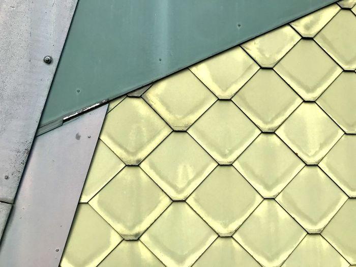 Detail shot of metal door