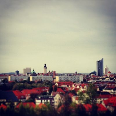 Leipzig Saxony Germany Fockeberg city skyline