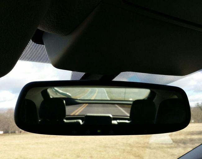 Rearview Mirror Rear View Mirror Rear-view Mirror Rear View From Whence It Came From Whence I Came Drivebyphotography Landscape Where I Am Heading??