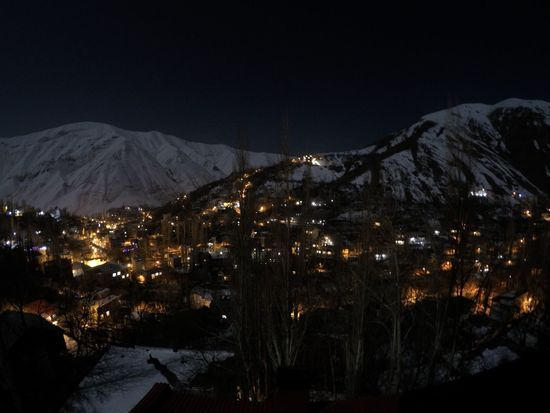 Iran Shemshak Winter Night Cold Temperature Built Structure Outdoors Mountain Illuminated Sky Nature City