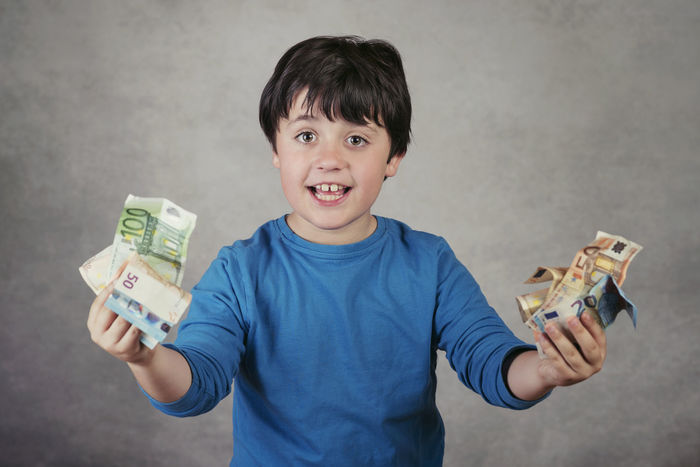 Banknotes Business Economy Happiness Lucky Savings Account  Bank Banking Business Finance And Industry Cash Child Childhood Currency Euro Expression Finance Finance And Economy Fortune Payment Portrait Purchases Savings Smile Smiling Success