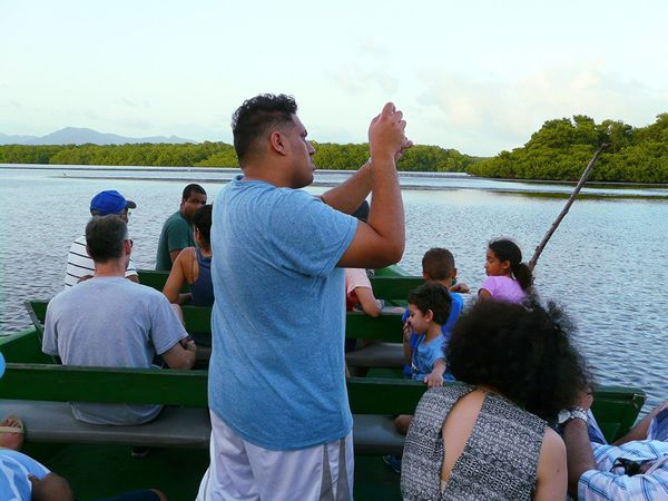Taking photographs of the sceneries Feel The Journey Trinidad And Tobago Bird Sanctuary Caroni Swamp Boat Ride