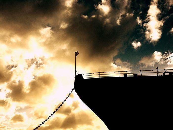 Check This Out Taking Photos Enjoying Life Morning Light Morning Sky Eye4photography  Hawaii Sunrise Clouds And Sky WW2 Memorial Battleship