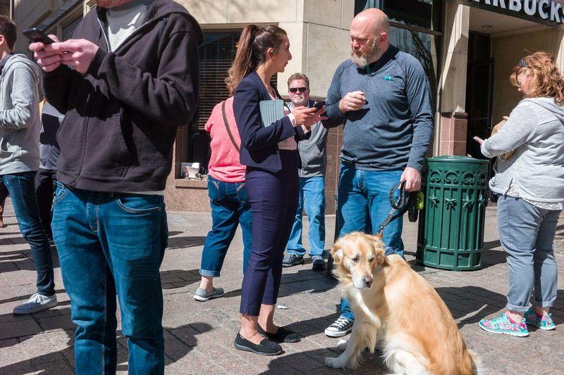 Austin Texas Candid Dog Downtown Austin Peddler People Public Streetphotography