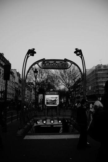 Entrance Gate Transportation Subway Paris Life Black And White Dark City City Sky Subway Station Public Transportation