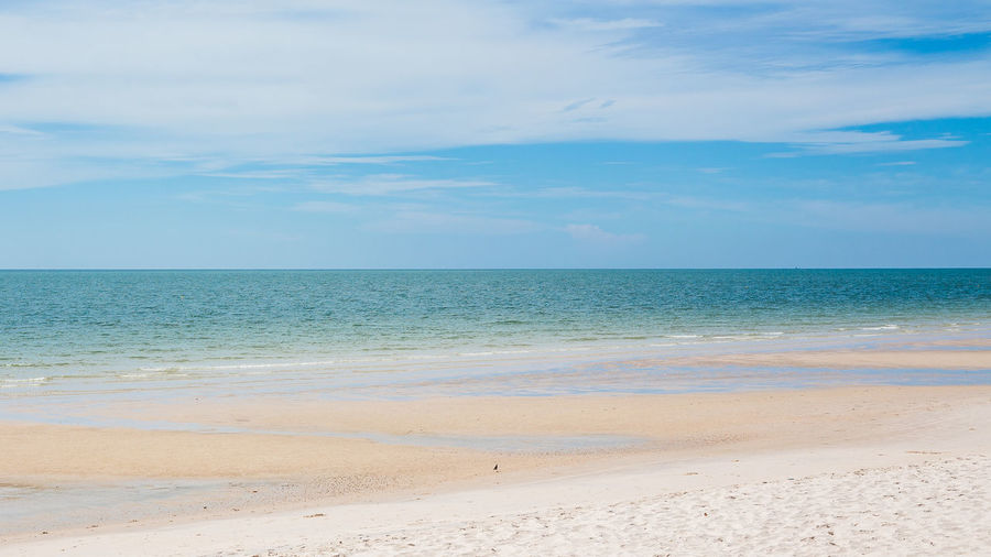 Hua Hin beach Beach Beauty In Nature Blue Cloud - Sky Day Horizon Over Water Nature No People Outdoors Sand Scenics Sea Sky Tranquil Scene Tranquility Water
