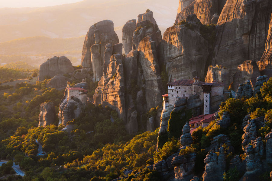 One of the most amazing places I have ever visited. Meteora has been near the top of my list to photograph for many years. Sunset here did not disappoint. I would love to visit here in winter with snow. Have you been? Week On Eyeem Landscape Meteora Greece Kalampáka Travel Destinations Wanderlust Sunset Monastery Orthodox Mountain Sunrise Sun Wide Angle Greek Australian Photographers Haze UNESCO World Heritage Site A New Perspective On Life