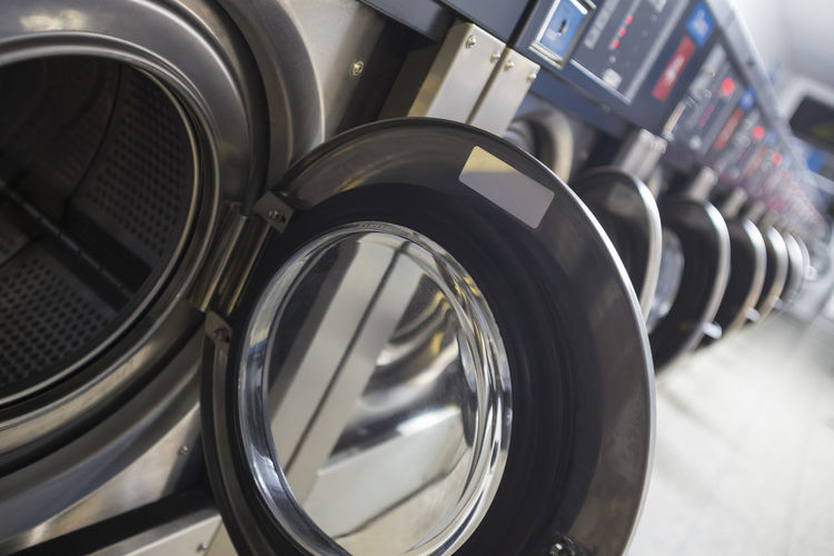 Washing machines for sale at store