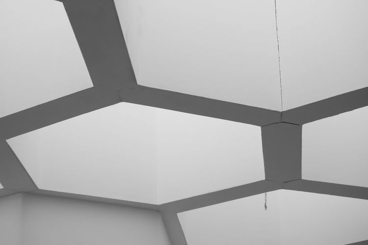 Shape No People Geometric Shape Design Indoors  Pattern Hexagon Architecture Built Structure Ceiling Low Angle View Full Frame Close-up Day Backgrounds Wall - Building Feature Sunlight Corner Nature Skylight Directly Below